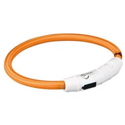 Flash lysring USB, XS–S: 35 cm/ø 7 mm, orange